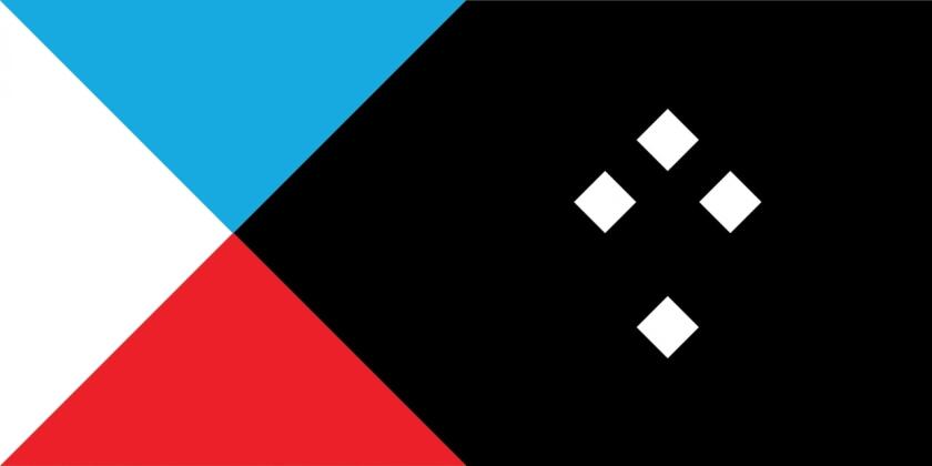 New Zealand flag Tukutuku lightblue