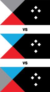 New Zealand flag Tukutuku lightblue variations