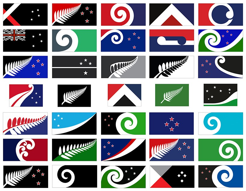 Longlist of new New Zealand flags