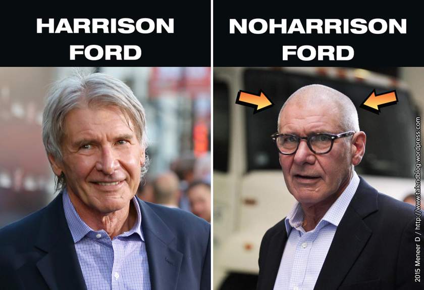 Harrison Ford versus Noharrison Ford