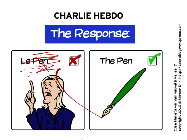 How to respond to Charlie Hebdo? Le Pen?