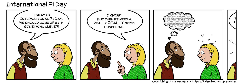 International Pi Day - comic strip