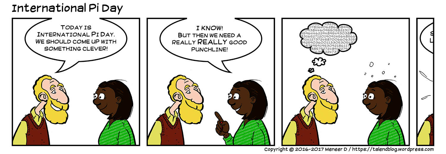 International Pi Day - comic strip / cartoon