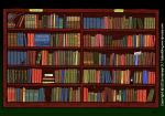 Boekenkast - bibliotheek - cartoon / illustratie