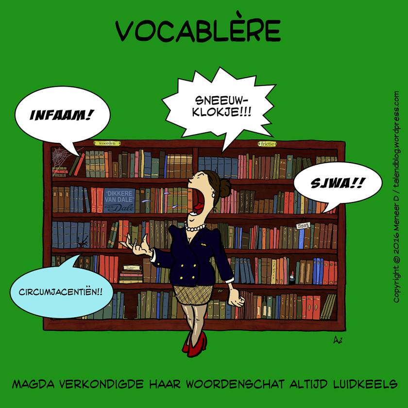 Vocablère - Magda verkondigde haar woordenschat altijd luidkeels - cartoon