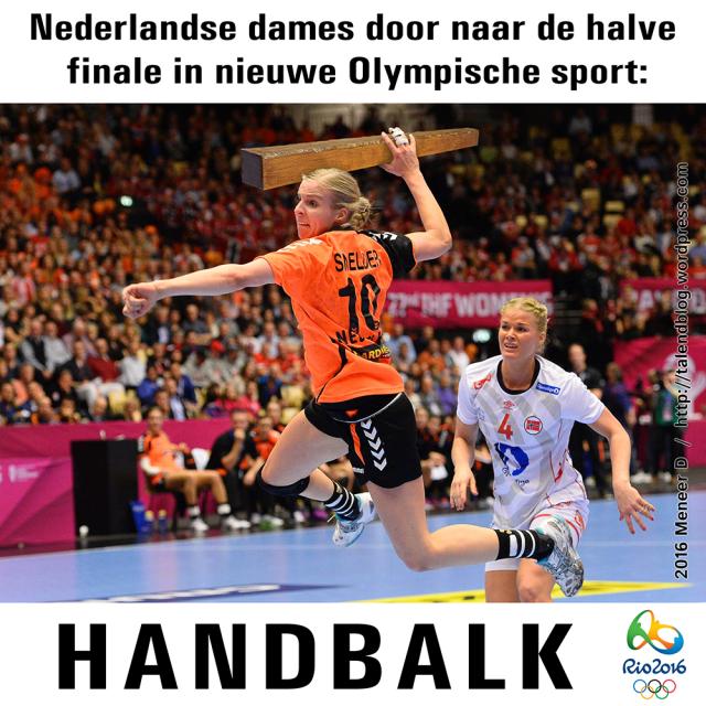 Nederlandse dames door naar halve finale in nieuwe Olympische sport: handbalk