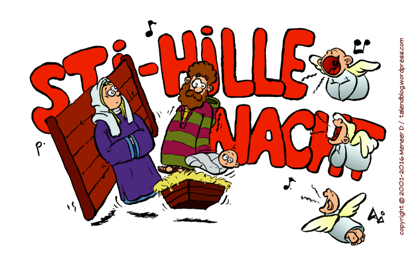Cartoon: Kerst - Stihille nacht